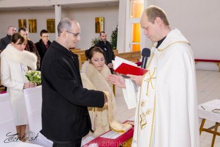 Svadobný obrad v kostole - 105