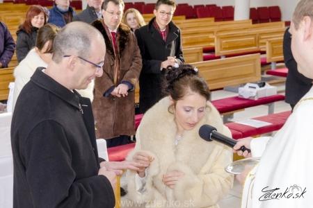 Svadobný obrad v kostole - 106